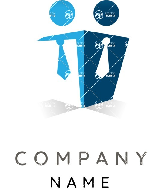 Business Logo Templates - vector graphics in a pack from GraphicMama - Company logo cooperation color