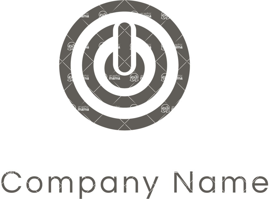 Business Logo Templates - vector graphics in a pack from GraphicMama - Company logo Power Button black