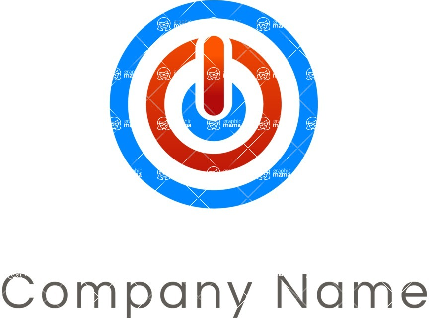Business Logo Templates - vector graphics in a pack from GraphicMama - Company logo Power Button color