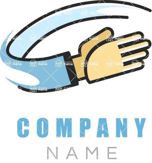 Business Logo Templates - vector graphics in a pack from GraphicMama - Company logo hand color