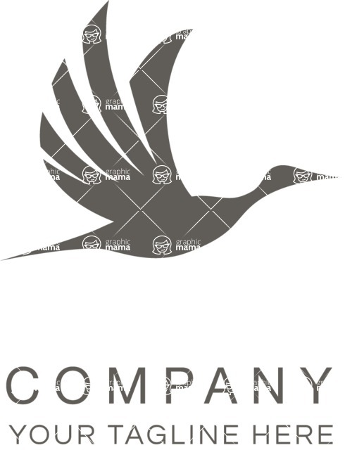 Business Logo Templates - vector graphics in a pack from GraphicMama - Company logo bird black