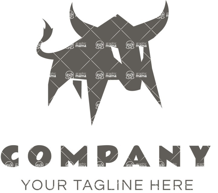 Business Logo Templates - vector graphics in a pack from GraphicMama - Business logo bull black