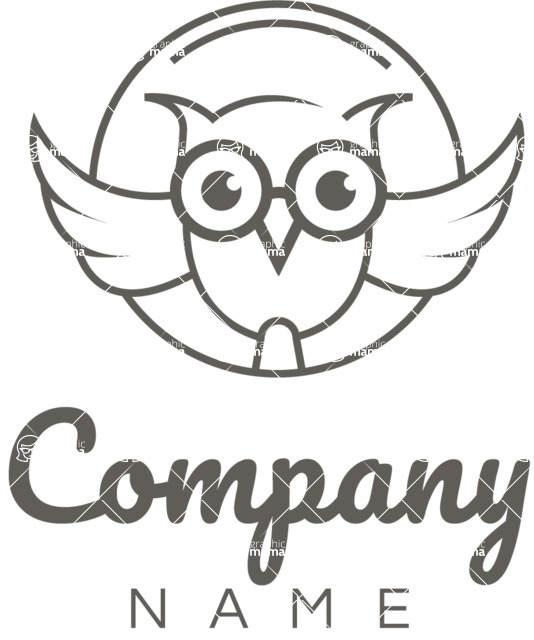 Business Logo Templates - vector graphics in a pack from GraphicMama - Business logo owl black
