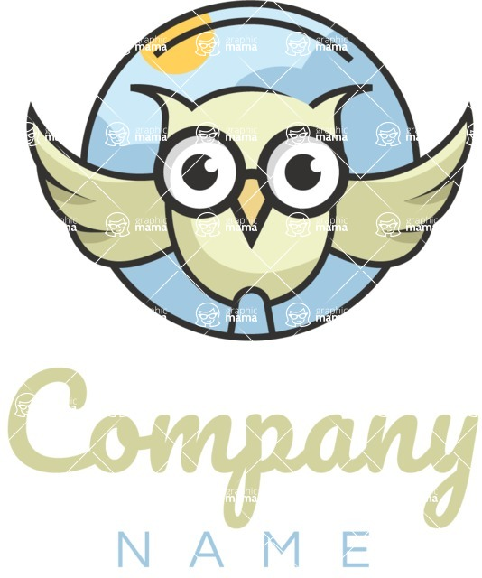 Business Logo Templates - vector graphics in a pack from GraphicMama - Business logo owl color