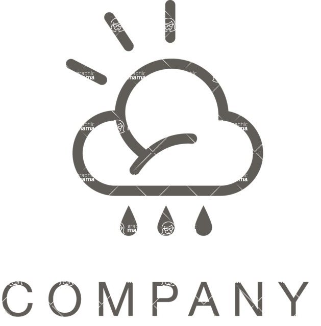 Business Logo Templates - vector graphics in a pack from GraphicMama - Company logo weather black