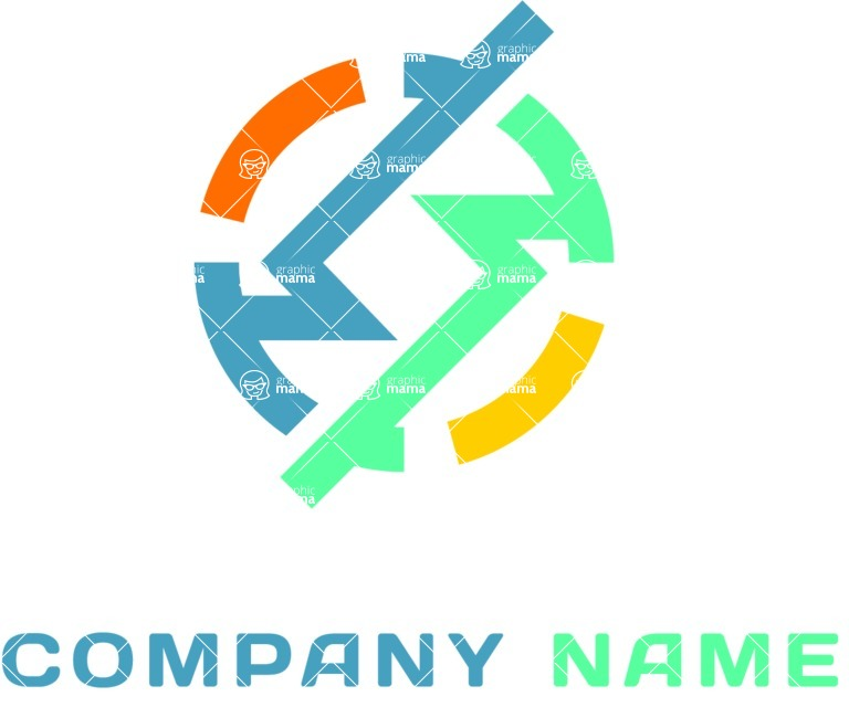 Business Logo Templates - vector graphics in a pack from GraphicMama - Angular business logo color