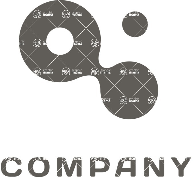 Business Logo Templates - vector graphics in a pack from GraphicMama - Connection company logo black