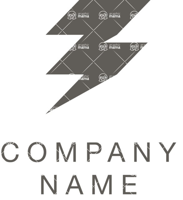 Business Logo Templates - vector graphics in a pack from GraphicMama - Business logo bolt black