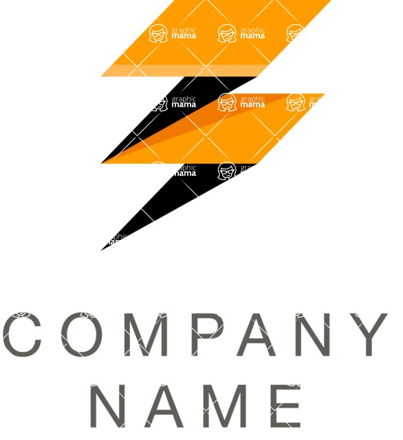 Business Logo Templates - vector graphics in a pack from GraphicMama - Business logo bolt color
