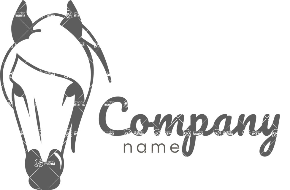 Business Logo Templates - vector graphics in a pack from GraphicMama - Horse business logo black