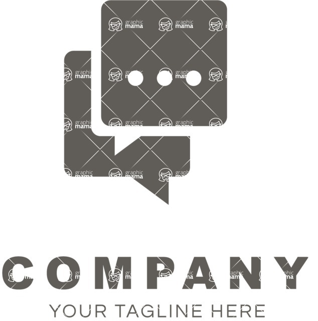 Business Logo Templates - vector graphics in a pack from GraphicMama - Business logo chat black