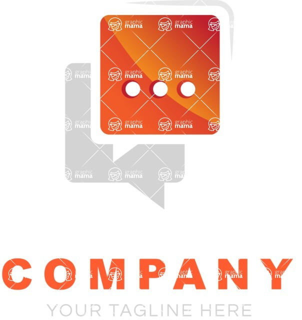 Business Logo Templates - vector graphics in a pack from GraphicMama - Business logo chat color