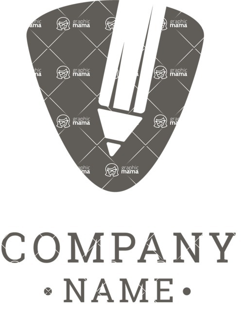 Business Logo Templates - vector graphics in a pack from GraphicMama - Company logo writing black