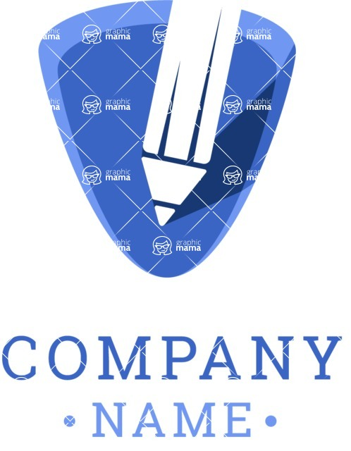 Business Logo Templates - vector graphics in a pack from GraphicMama - Company logo writing color