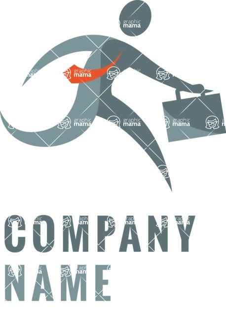 Business Logo Templates - vector graphics in a pack from GraphicMama - Company logo businessman color
