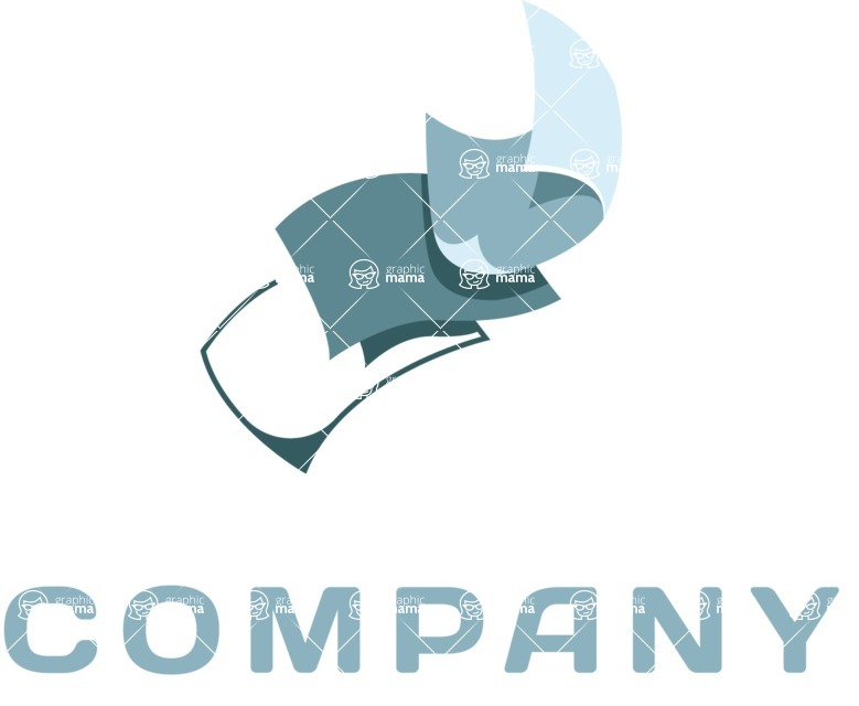 Business Logo Templates - vector graphics in a pack from GraphicMama - Company logo papers color