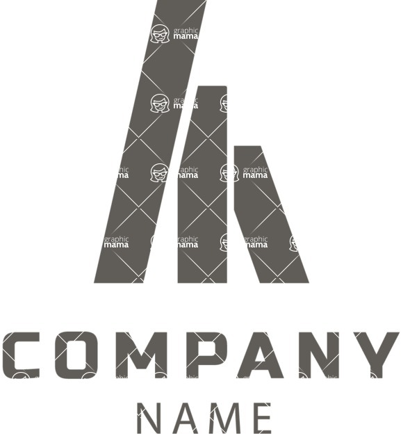 Business Logo Templates - vector graphics in a pack from GraphicMama - Company logo geometric black