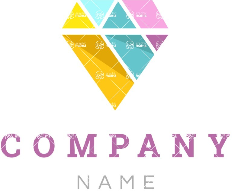 Business Logo Templates - vector graphics in a pack from GraphicMama - Company logo diamond color
