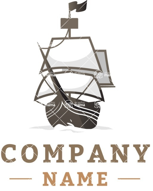 Business Logo Templates - vector graphics in a pack from GraphicMama - Business logo ship color