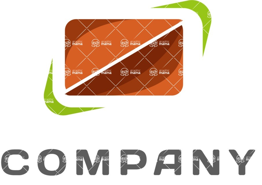Business Logo Templates - vector graphics in a pack from GraphicMama - Business logo halves color