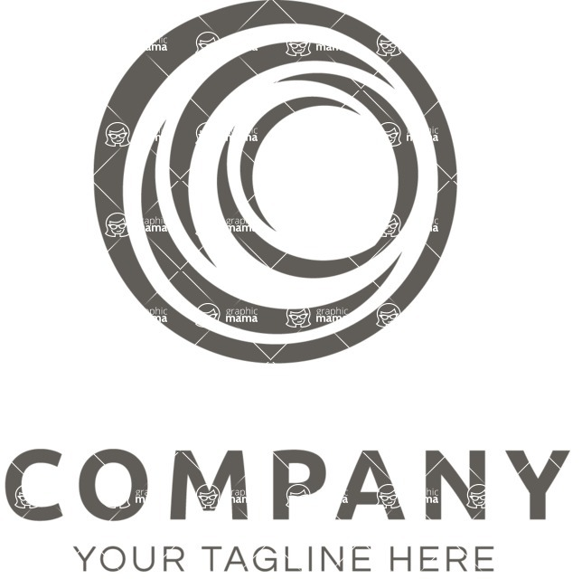 Business Logo Templates - vector graphics in a pack from GraphicMama - Company logo sphere black