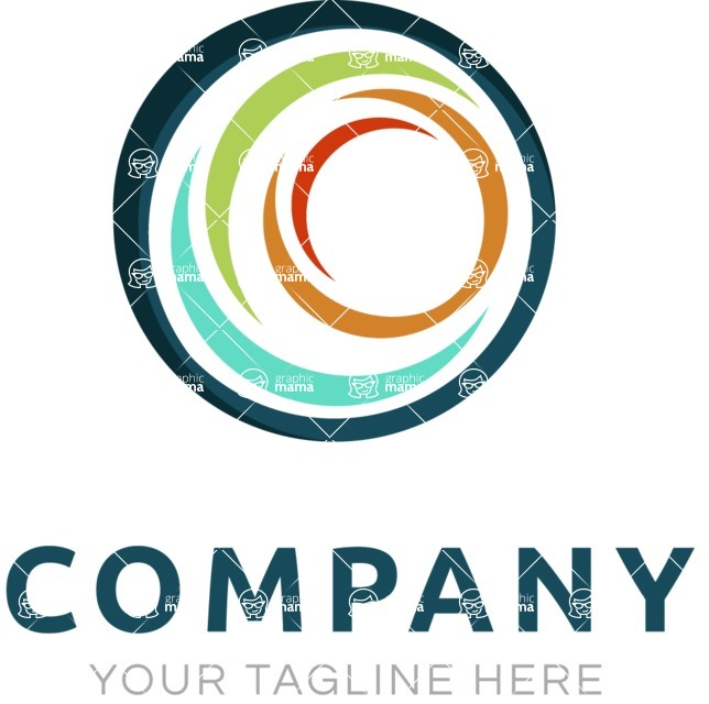 Business Logo Templates - vector graphics in a pack from GraphicMama - Company logo sphere color