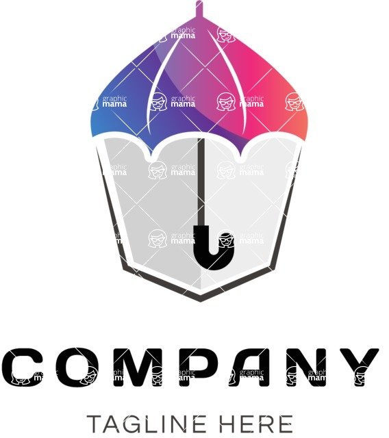 Business Logo Templates - vector graphics in a pack from GraphicMama - Business logo umbrella color