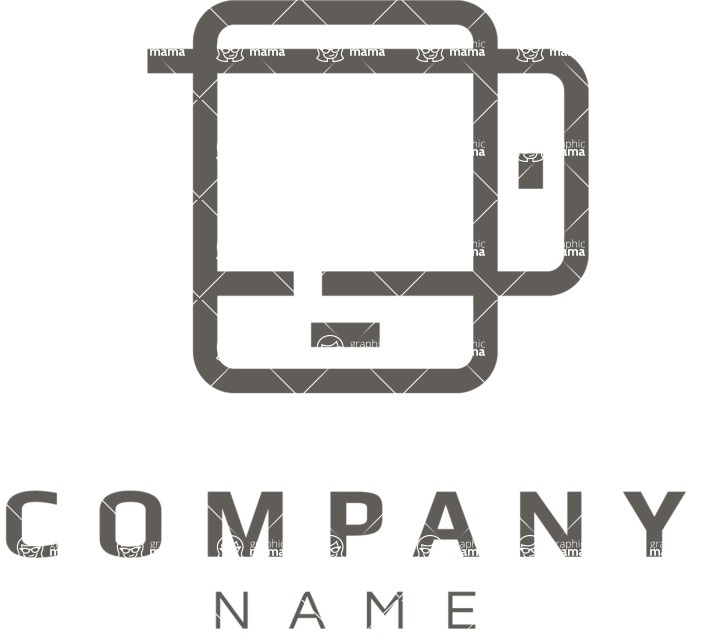 Business Logo Templates - vector graphics in a pack from GraphicMama - Mobile business logo black