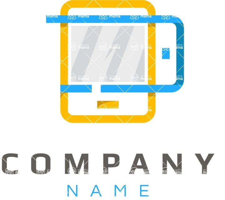 Business Logo Templates - vector graphics in a pack from GraphicMama - Mobile business logo color