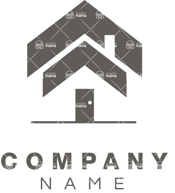 Business Logo Templates - vector graphics in a pack from GraphicMama - Business logo home black