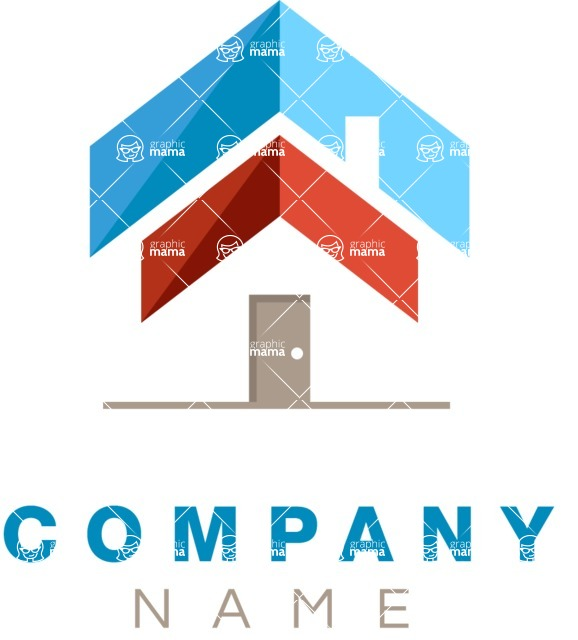 Business Logo Templates - vector graphics in a pack from GraphicMama - Business logo home color