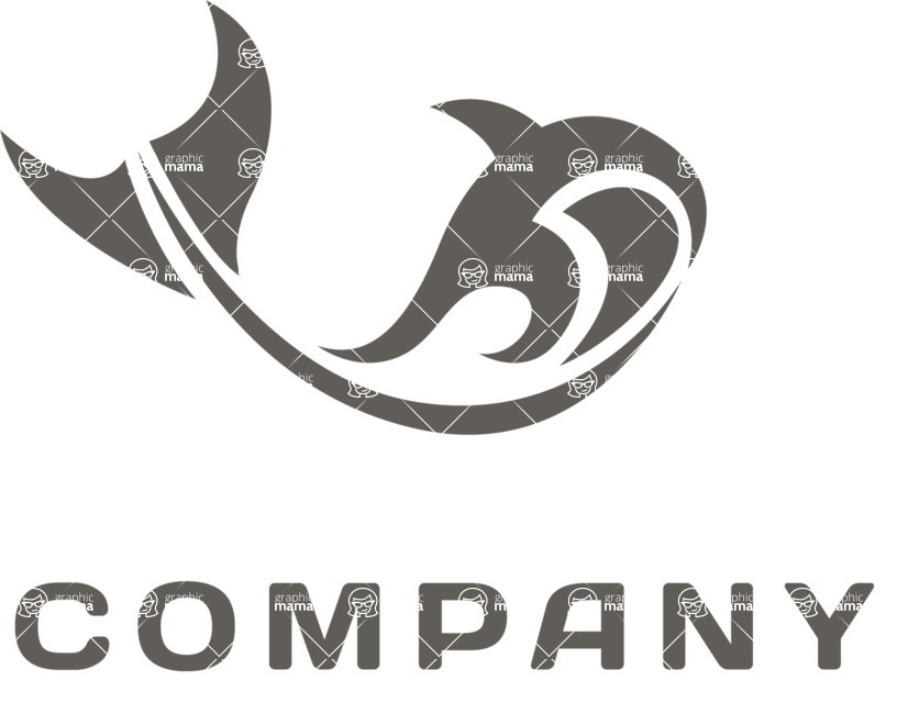Business logo whale black