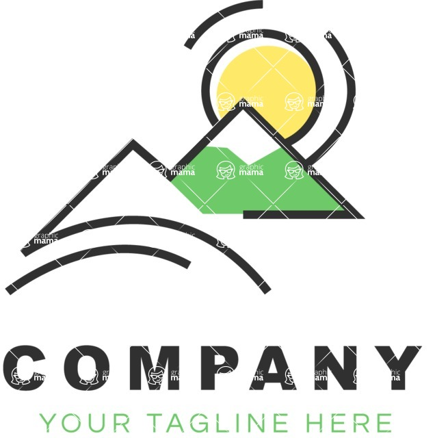 Business Logo Templates - vector graphics in a pack from GraphicMama - Company logo nature color