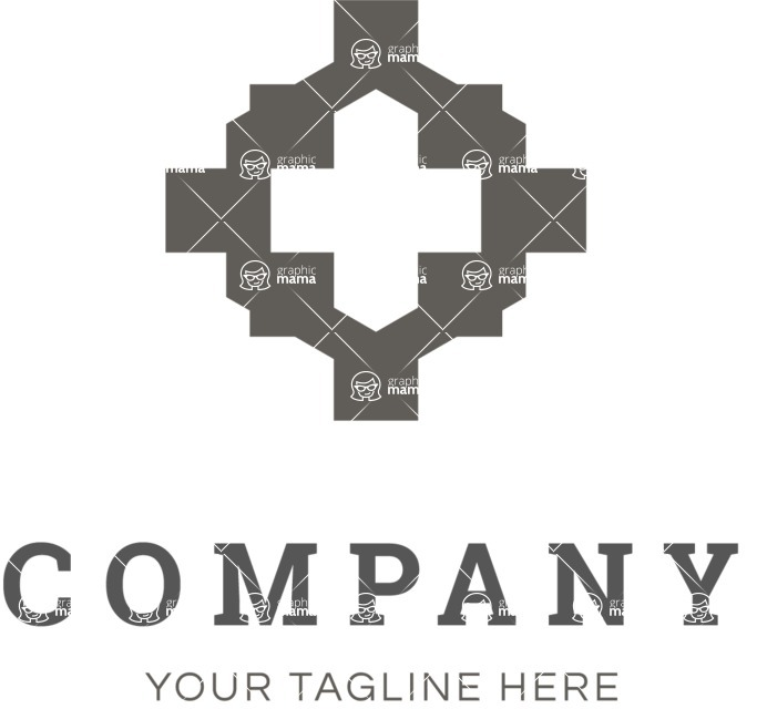 Business Logo Templates - vector graphics in a pack from GraphicMama - Business logo cross black