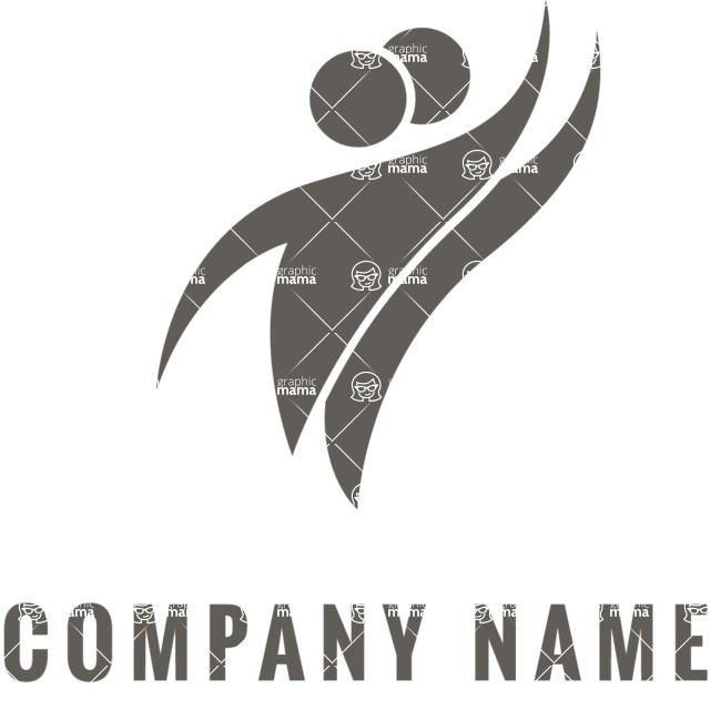 Business Logo Templates - vector graphics in a pack from GraphicMama - Company logo dance black