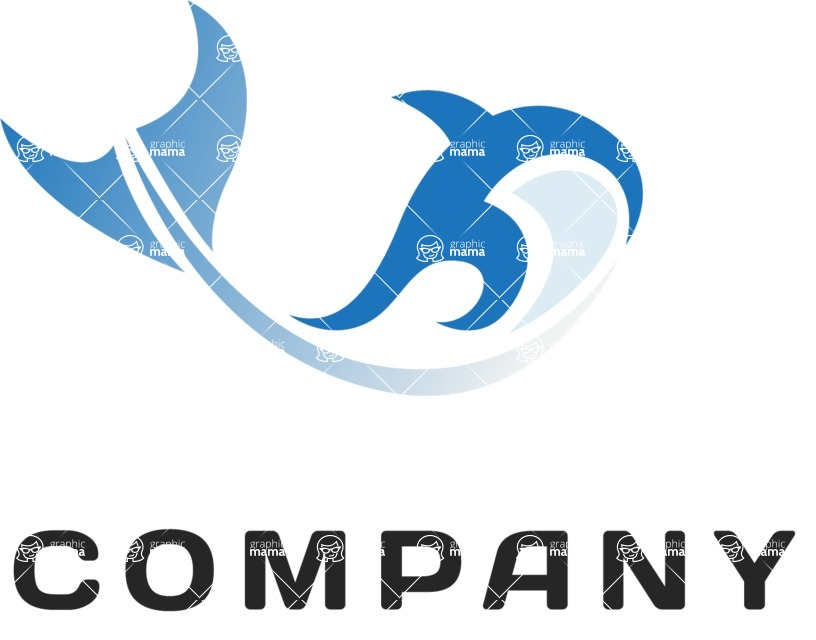 Business logo whale color