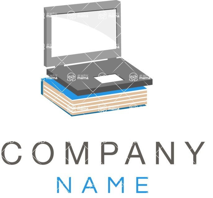 Business Logo Templates - vector graphics in a pack from GraphicMama - Company logo IT color