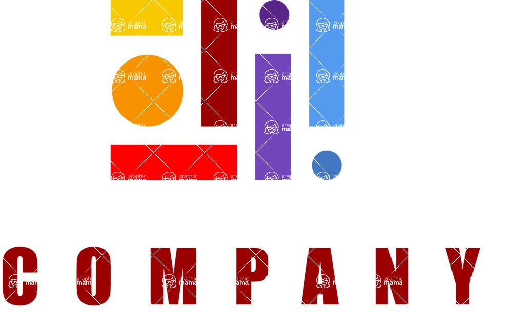 Business Logo Templates - vector graphics in a pack from GraphicMama - Mosaic company logo color