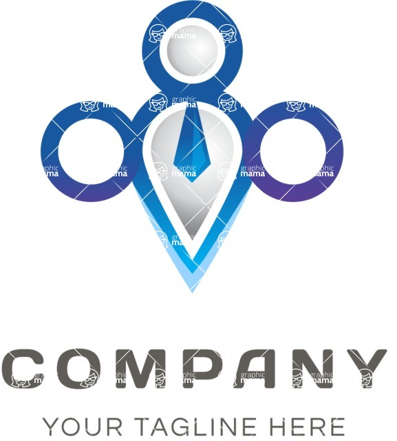 Contemporary business logo color