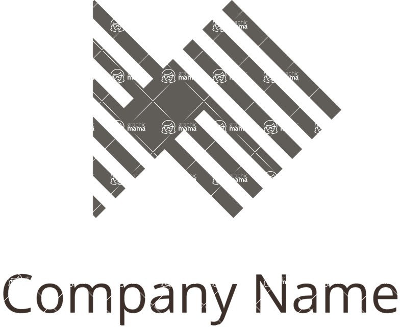 Business Logo Templates - vector graphics in a pack from GraphicMama - Company logo merge black