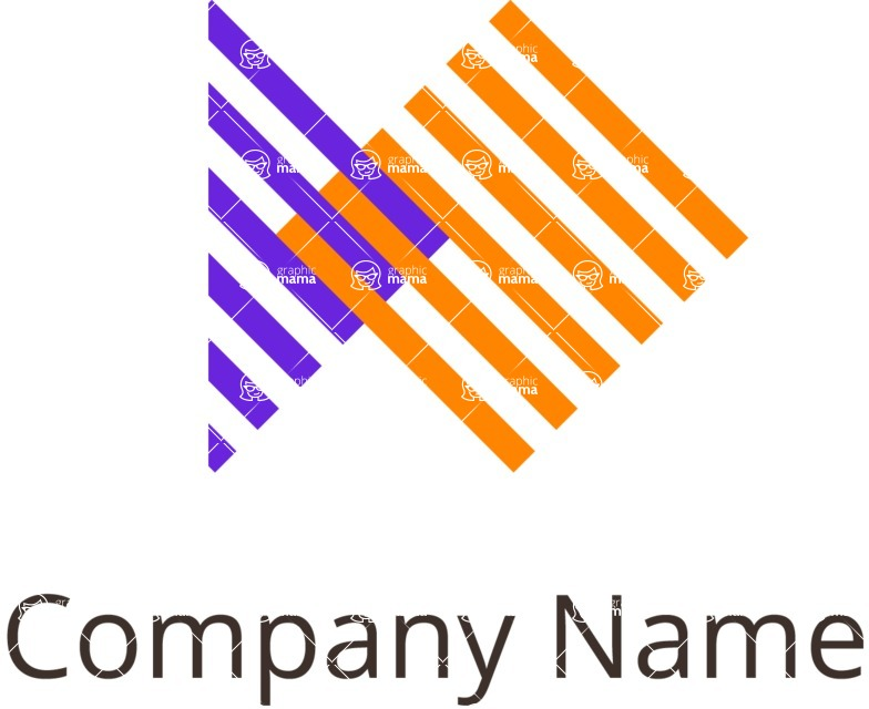 Business Logo Templates - vector graphics in a pack from GraphicMama - Company logo merge color
