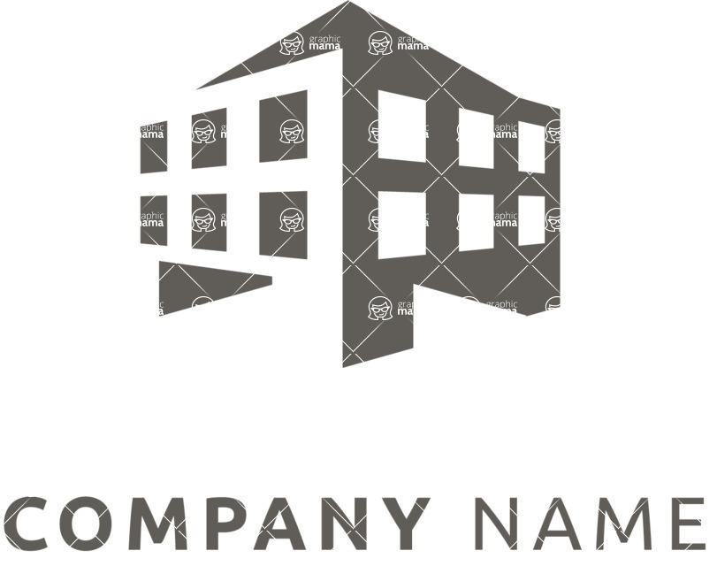 Business Logo Templates - vector graphics in a pack from GraphicMama - Business logo building black