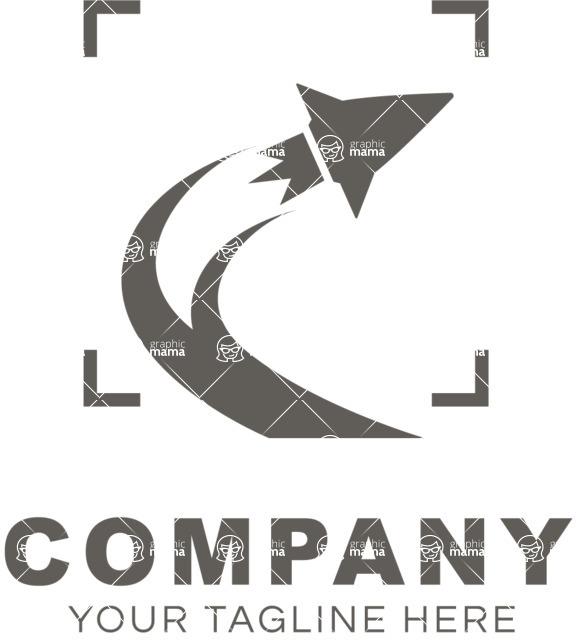 Business logo start up black