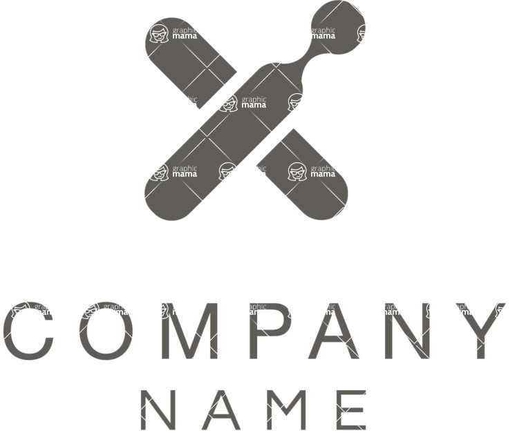 Business Logo Templates - vector graphics in a pack from GraphicMama - Company logo cross black