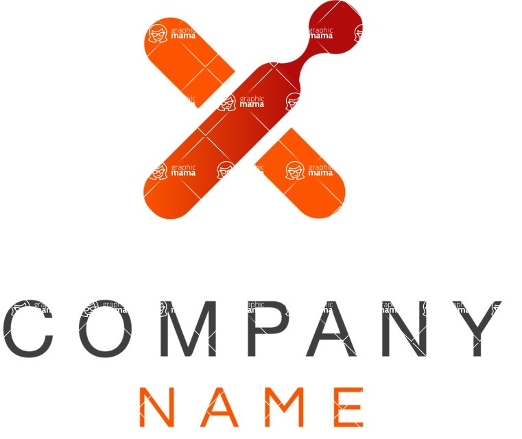 Business Logo Templates - vector graphics in a pack from GraphicMama - Company logo cross color