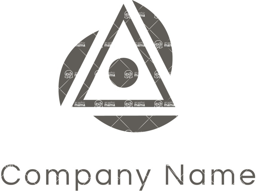 Business Logo Templates - vector graphics in a pack from GraphicMama - Business logo triangle black