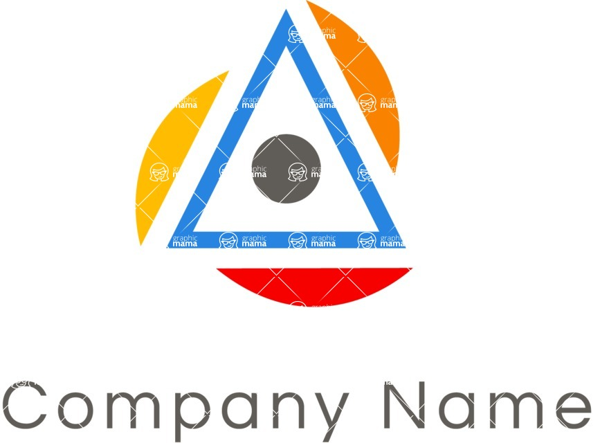 Business Logo Templates - vector graphics in a pack from GraphicMama - Business logo triangle color