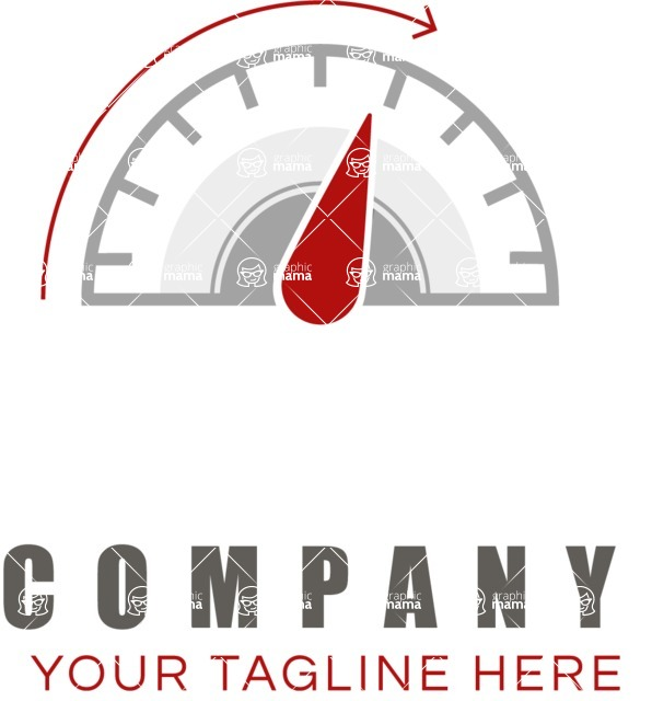 Business Logo Templates - vector graphics in a pack from GraphicMama - Company logo speed color