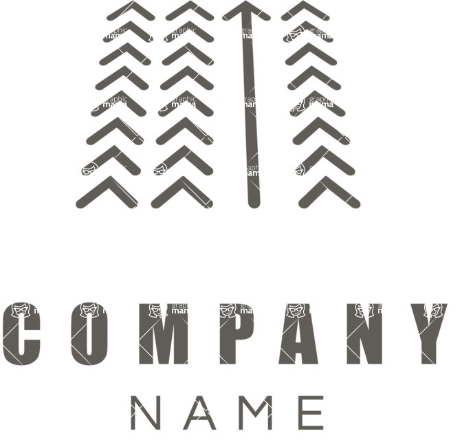 Business Logo Templates - vector graphics in a pack from GraphicMama - Company logo arrow black