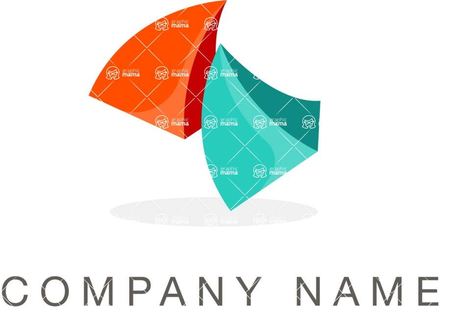Business Logo Templates - vector graphics in a pack from GraphicMama - Abstract company logo color